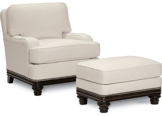 Hadley Chair and Ottoman (1313-02)