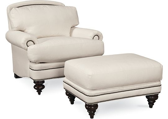Westport Chair and Ottoman (1313-02)