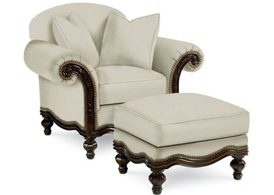 Pauline Chair and Ottoman (1313-02)