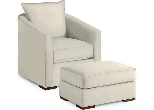 Carina Chair and Ottoman (1313-02)