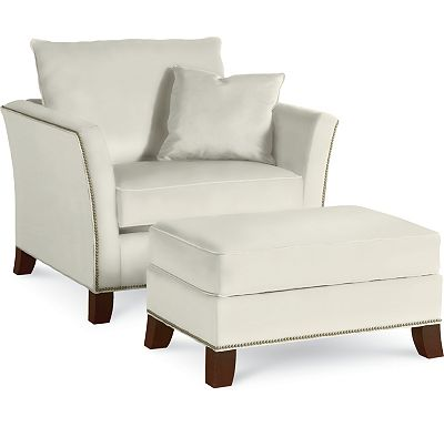 Easton Chair and a Half and Ottoman and a Half (1313-02)