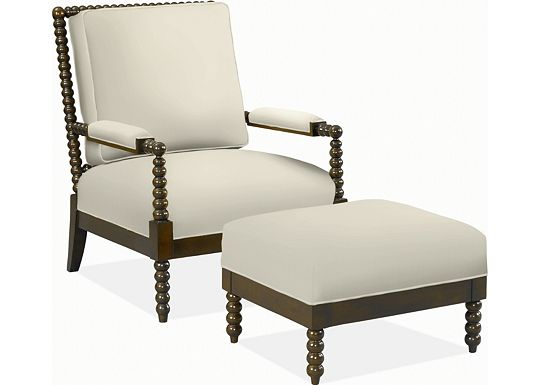 Behnaz Chair and Ottoman (1313-02)