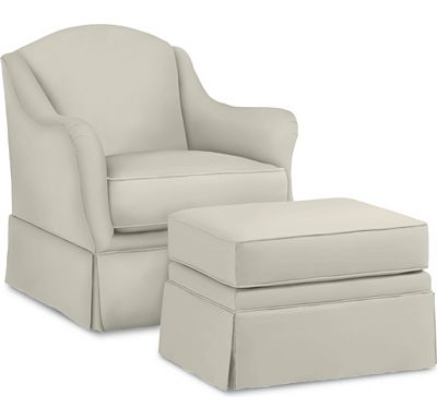 Cacharel Chair and Ottoman (1313-02)