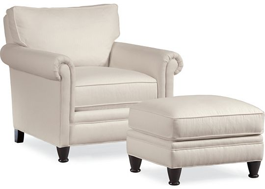 Mercer Chair and Ottoman (1313-02)