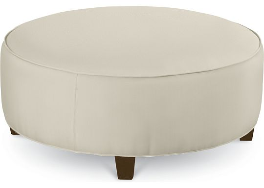 Brooklyn Round Plain Top Ottoman (1313-02)