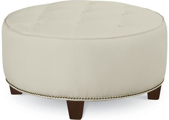 Brooklyn Round Button Top Ottoman (1313-02)