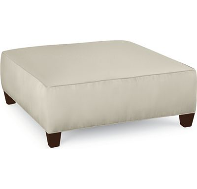 Brooklyn Square Plain Top Ottoman (1313-02)