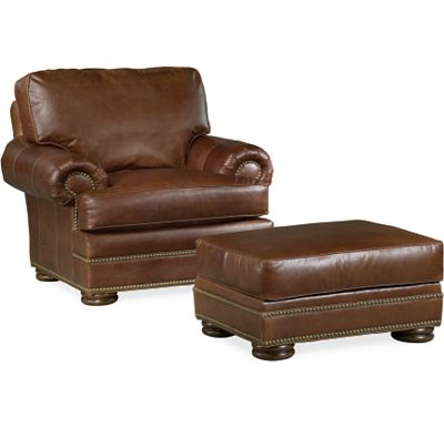 Leather Choices - Ashby Chair and Ottoman (0518-05)
