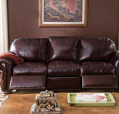Leather Choices - Benjamin Motion Sofa (0514-08)