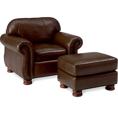Leather Choices - Benjamin Chair and Ottoman (0514-08)