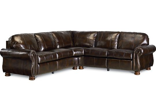 Leather Choices - Benjamin Motion Sectional (0514-08)