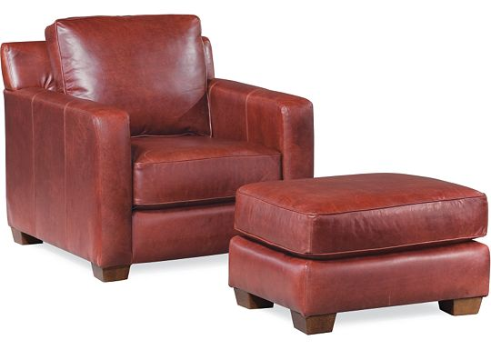 Leather Choices - Metro Chair and Ottoman (0624-85)