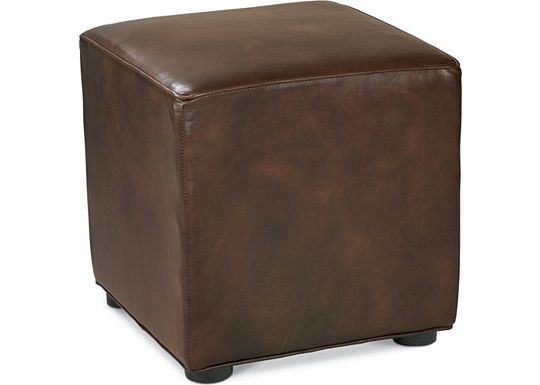 Leather Choices - Nightclub Cube Ottoman (0518-05)