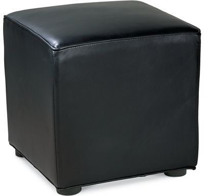 Leather Choices - Nightclub Cube Ottoman (0511-10)