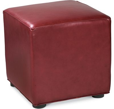 Leather Choices - Nightclub Cube Ottoman (0624-85)