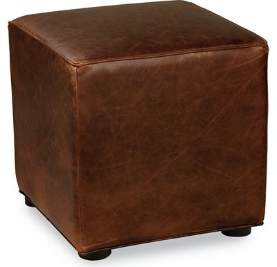 Leather Choices - Nightclub Cube Ottoman (0314-08)