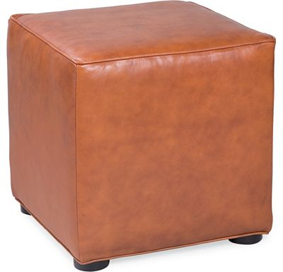 Leather Choices - Nightclub Cube Ottoman (0400-05)