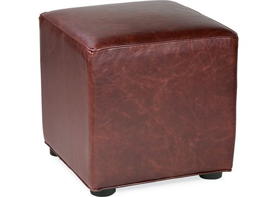Leather Choices - Nightclub Cube Ottoman (0401-81)
