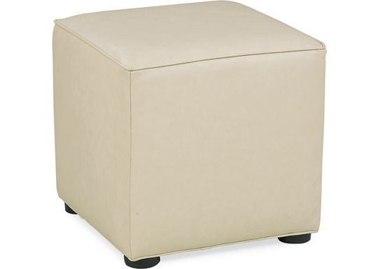 Leather Choices - Nightclub Cube Ottoman (0307-03)