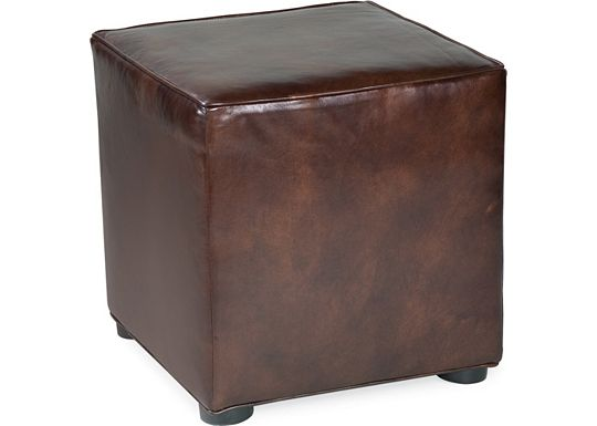 Leather Choices - Nightclub Cube Ottoman (0514-08)