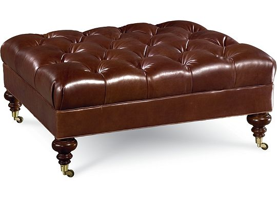 Leather Choices - Regatta Cocktail Ottoman (0518-05)