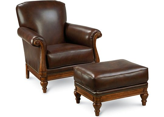 Leather Choices - Monte Cristo Chair and Ottoman (0518-05)