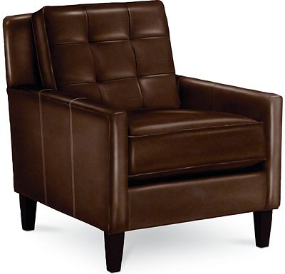 Leather Choices - Highlife Biscuit Back Chair (0514-08)