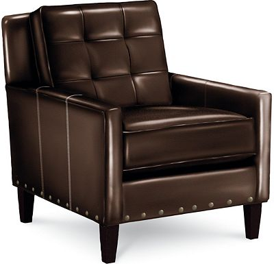 Leather Choices - Highlife Biscuit Back Chair with Nails (0514-08)