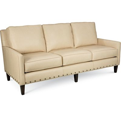 Leather Choices - Highlife 3 Seat Sofa with Nails (0307-03)