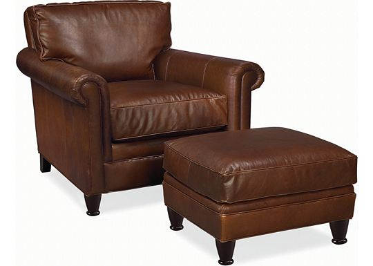 Leather Choices - Mercer Chair and Ottoman (0314-08)
