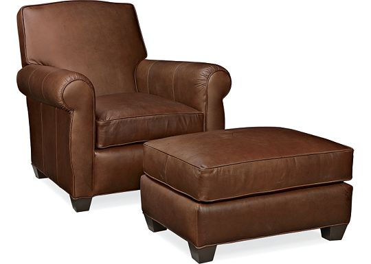 Leather Choices - Taft Chair and Ottoman (0514-08)