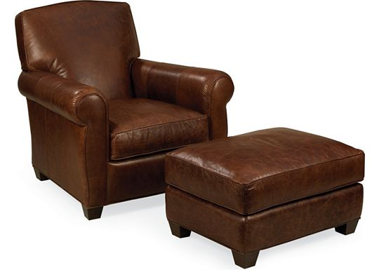 Leather Choices - Taft Chair and Ottoman (0314-08)