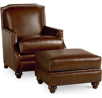 Leather Choices - Havana Chair and Ottoman (0518-05)