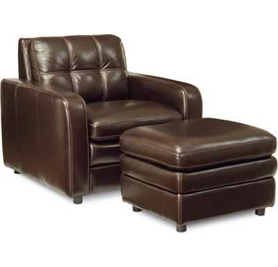 QuickShip - Messina Chair and Ottoman (0406-08)