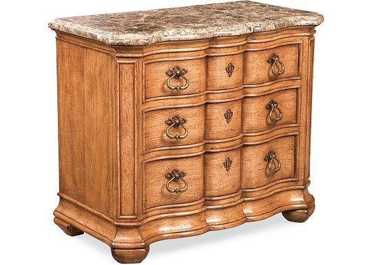 The Hills of Tuscany - Lucca Night Stand (Marble Top)