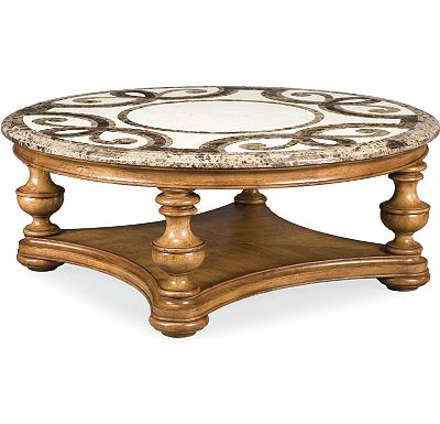 The Hills of Tuscany - Trebbiano Round Cocktail Table (Stone Top)