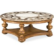 Trebbiano Round Cocktail Table (Stone Top)