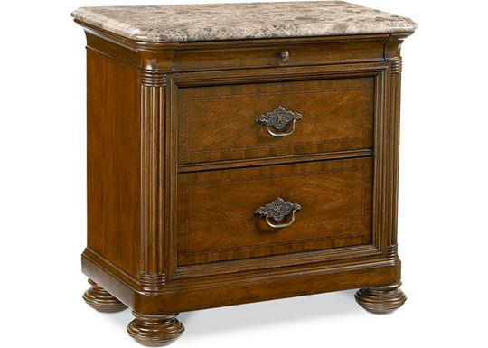 Hemingway - Nairobi Night Stand (Marble top)