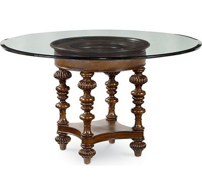 Hemingway - Pepica Table Base and Pepica Beveled Glass Top