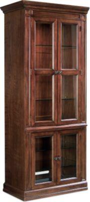 HEMNES Glass-door cabinet with 4 drawers - black-brown - IKEA