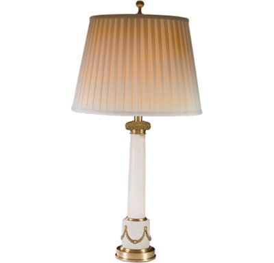 Accessories - Alabaster Column with Swag Table Lamp