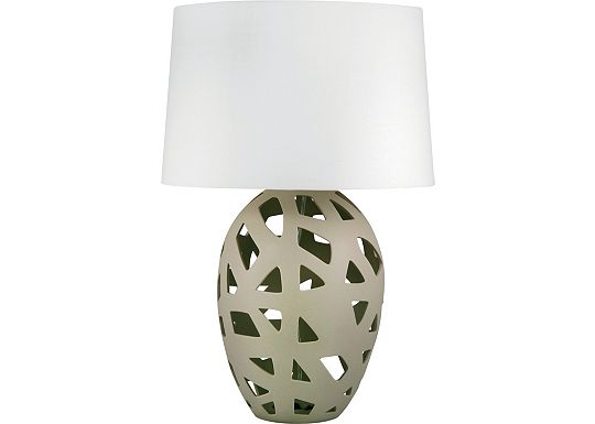 Accessories - Lyman - Taupe Bisque Ceramic Table Lamp