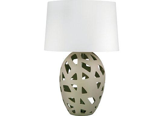 Accessories - Lyman - Taupe Bisque Ceramic Table Lamp