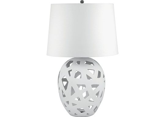 Accessories - Lyman - White Bisque Ceramic Table Lamp