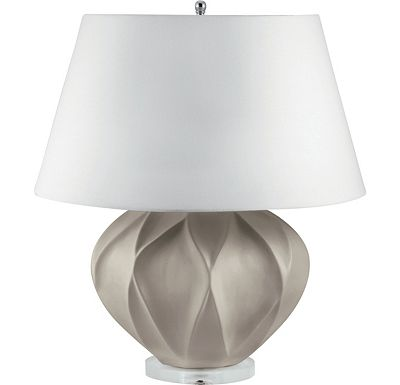 Accessories - Sydney - Taupe Bisque Lotus Ceramic Table Lamp