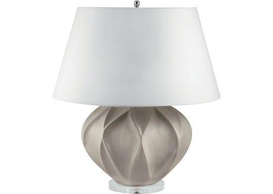Accessories - Sydney - Taupe Bisque Lotus Ceramic Table Lamp