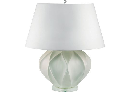 Accessories - Sydney - White Bisque Lotus Ceramic Table Lamp