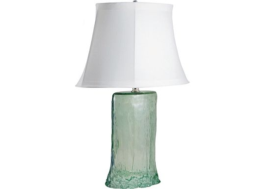 Accessories - Karel - Green Oval Recycled Glass Table Lamp