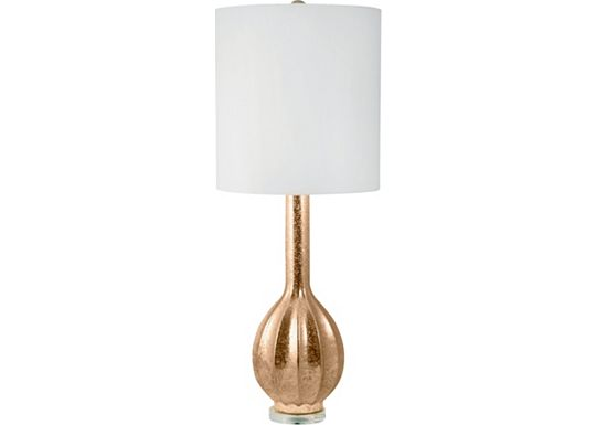 Accessories - Radha - Glam Fluted Gourd Porcelain Table Lamp