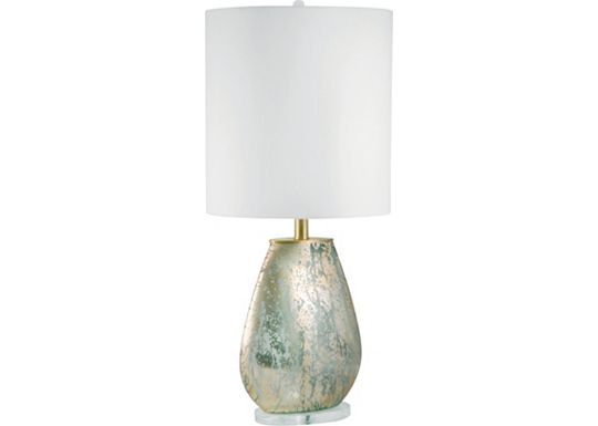 Accessories - Sierra - Oval Gold Mercury Glass Table Lamp